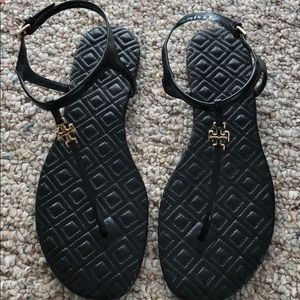 New Tory Burch Black Sandals size 6 1/2